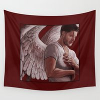 winchester Wall Tapestries featuring Michael. Dean Winchester by Armellin