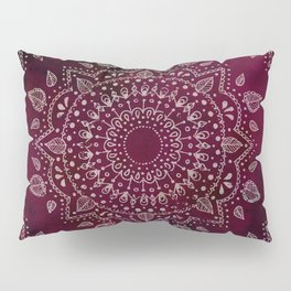 Wine Mandala Pillow Sham