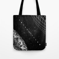 interstellar Tote Bags featuring Interstellar by Amanda Mocci