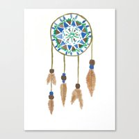 dream catcher Canvas Prints featuring Dream Catcher by Kayla Gordon