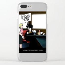 Robert Smith's Waitress Clear iPhone Case