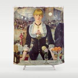 Edouard Manet - Bar w Folies Bergere Shower Curtain