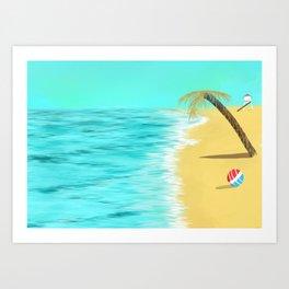 Beach Vacations Art Print