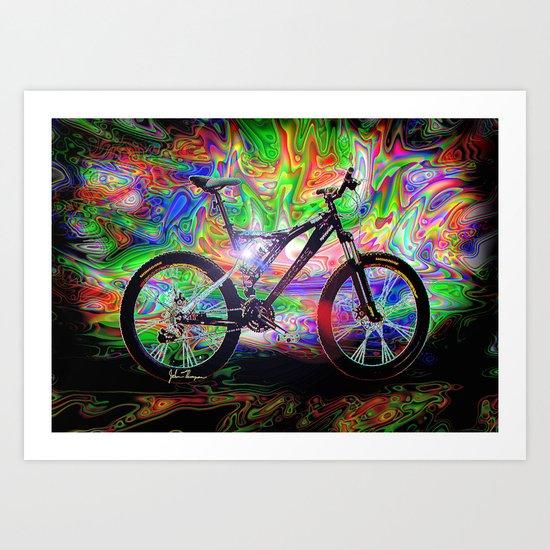 Psychedelic MT Bike Art Print