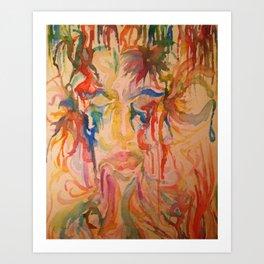 Masquerade Watercolor Painting Art Print