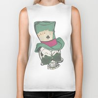 poker Biker Tanks featuring Poker Face by Ewan Arnolda