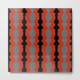 Australian native Floral Striped Fashion Print Metal Print