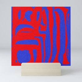 Abstract in Blue and Red I Mini Art Print