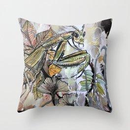 Peace, mantis Throw Pillow