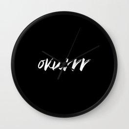 okurrr Wall Clock