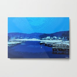 Winter at the Lake, Lake Hopatcong New Jersey Metal Print