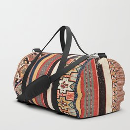 Salé  Antique Morocco North African Flatweave Rug Duffle Bag