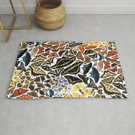 Butterflies of North America Pattern Rug
