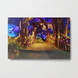 Pandora Bridge at Night Metal Print