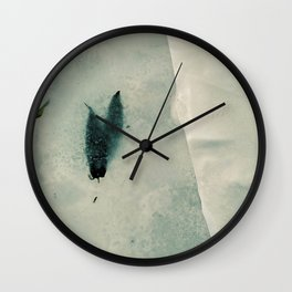 Abstract ice texture 7 Wall Clock