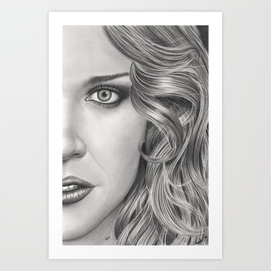 Half Portrait Art Print