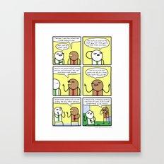 Antics #311 - too much love Framed Art Print