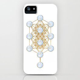 Tree of Life and Metatron Cube Synergy iPhone Case