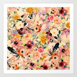 Picnic Blooms Art Print