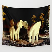 baby elephant Wall Tapestries featuring Baby elephant by nicky2342
