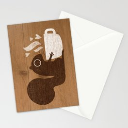 Squirrel Coffee Lover Stationery Cards