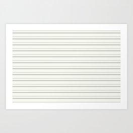 BM COY 2019 Metropolitan Light Gray Thin Horizontal Stripes on Snowfall White 2144-70 Art Print