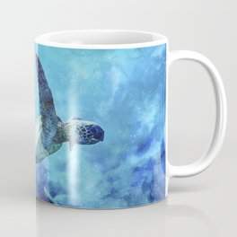 Sea Turtle Into The Deep Blue Coffee Mug