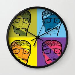 mustach man Wall Clock