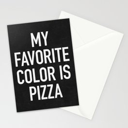 My Favorite Color is Pizza Stationery Cards