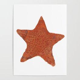 Watercolor Starfish Poster