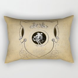 Vintage Whimsy Mouse knight shield Rectangular Pillow