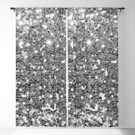 Chic faux silver abstract sequins glitter modern pattern Blackout Curtain