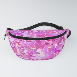 Flock of Butterflies, Purple, Lavender and Pink Fanny Pack