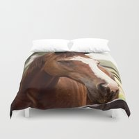 coco Duvet Covers featuring Coco by Images by Nicole Simmons