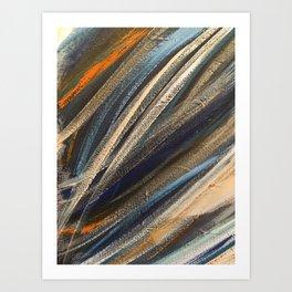 Dark Brushstrokes Painting Art Print