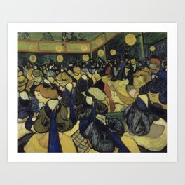 The Dance Hall in Arles Art Print