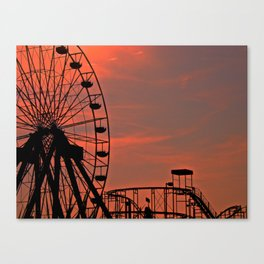 Sundown in Fun Town Canvas Print