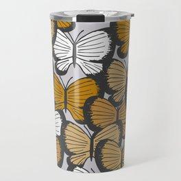 Golden butterflies Travel Mug