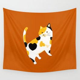 Calico Cat Wall Tapestry