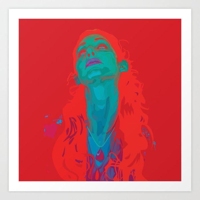 I Sea Red Art Print