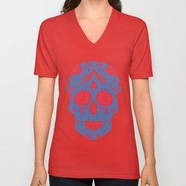 Hand draw skull Unisex V-Neck