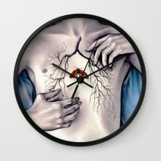 Between Two Lungs Wall Clock