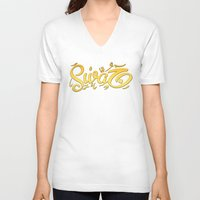 swag V-neck T-shirts featuring SWAG by Mikhaa