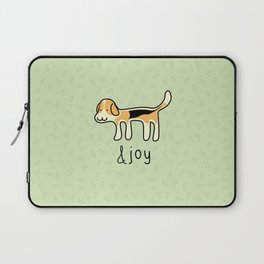 Cute Beagle Dog &joy Doodle Laptop Sleeve