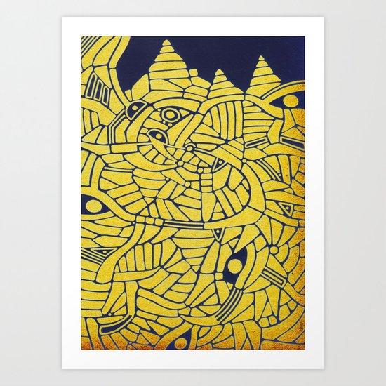 - mountainous - Art Print