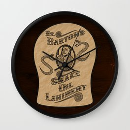 Dr. Barton's Snake Oil Liniment Wall Clock