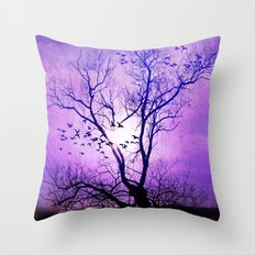 purple sunset Throw Pillow