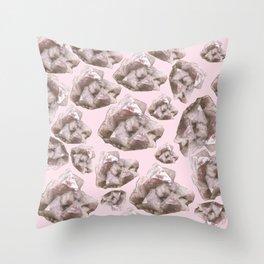 Pink Quartz, Crystal 3 Throw Pillow