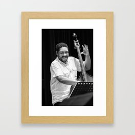 Chris Thomas from the Brian Blade and the Fellowship Band. XII Panama Jazz Festival Framed Art Print