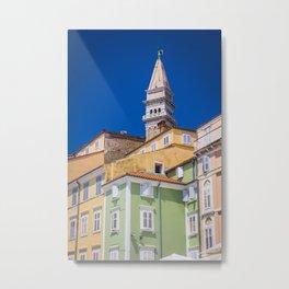 Piran, Slovenia Metal Print